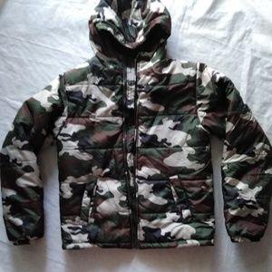 Faded glory puffy jacket , size XXL , boys size